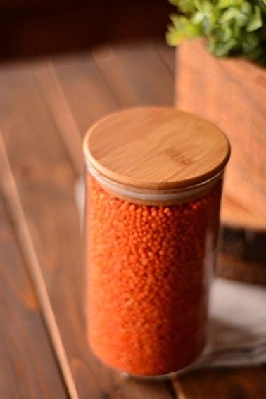 Bambum Osla Cam Saklama Kabi 13 cm Renkli